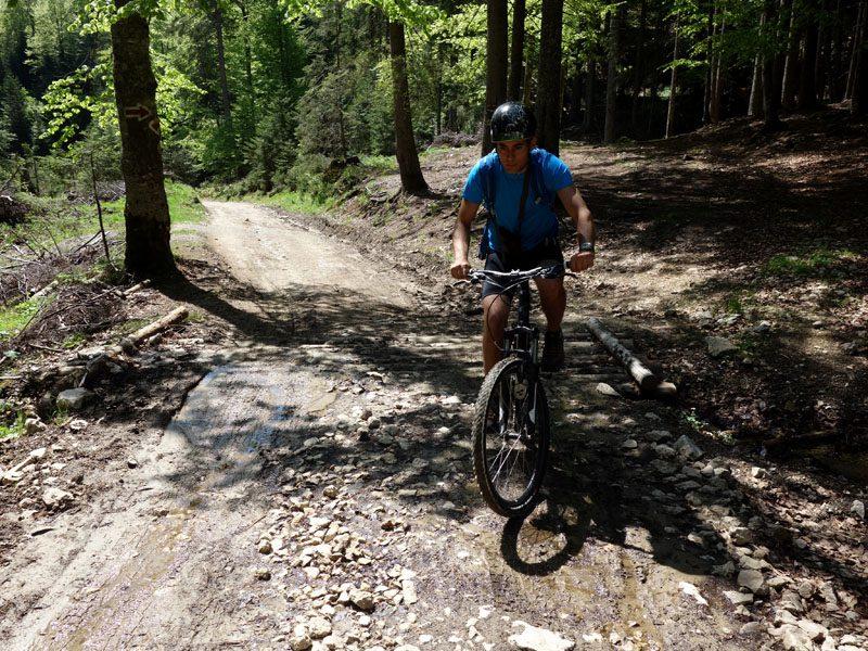 printre bălți și râulețe, spre Cabana Curmătura cu bicicleta