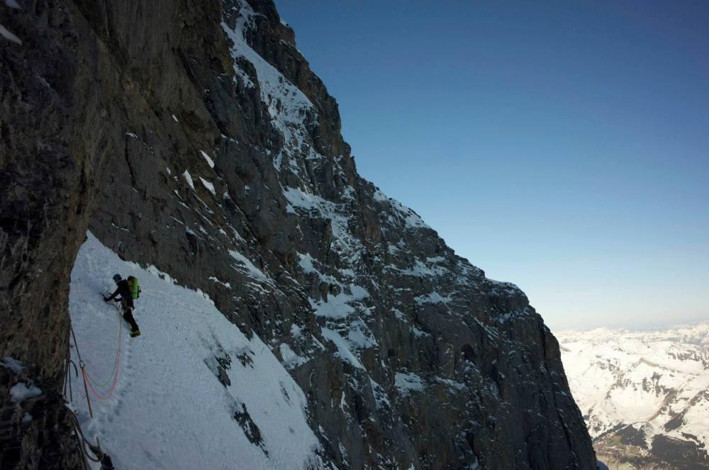 alex prigoana pe fata nordica a Eigerului