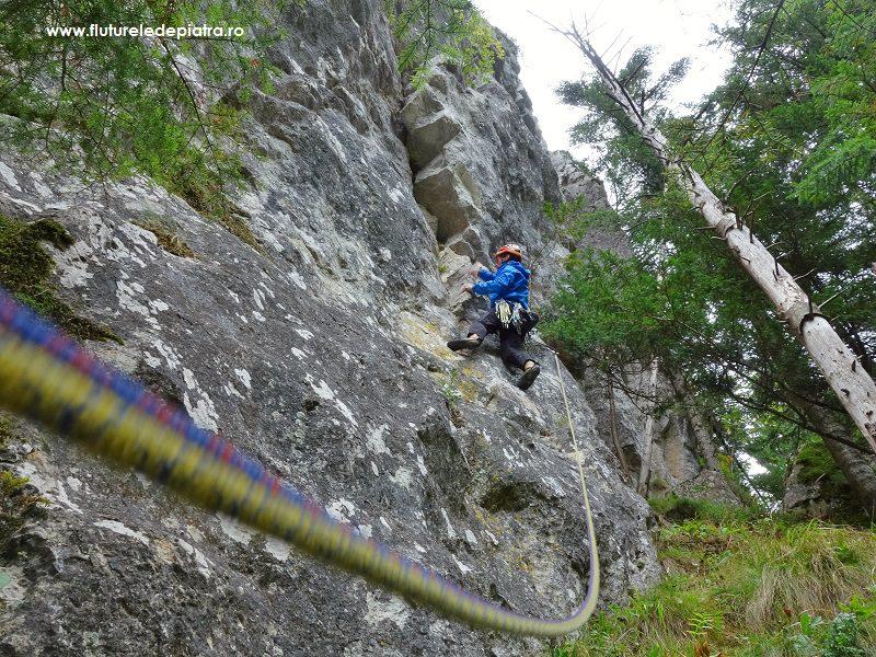 traseul Diedrul cu Brazi, alpinism Buila Vânturarița, Cabana Cheia