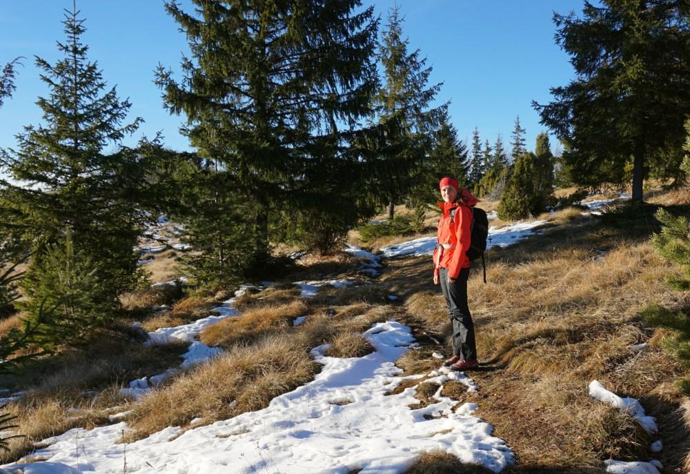 eu prin pădurile spre Vârful Belioara