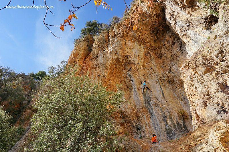 Ioana traseul escaladă Poseidon, 7b, Antalya
