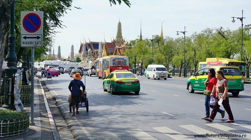 aglomerație pe străzile din Bangkok, Thailanda