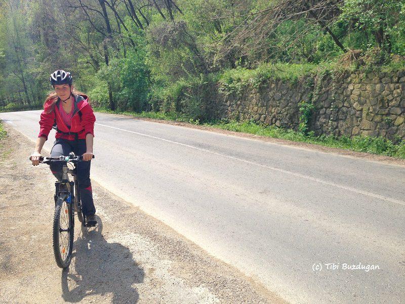 traseu bicicletă spre Sărata Monteoru