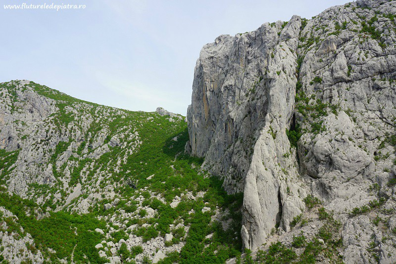 Anica Kuk climbing wall Paklenica, the longest multipitch routes in the area