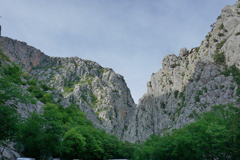 valea cu pereții de escaladă, Parcul Național Paklenica