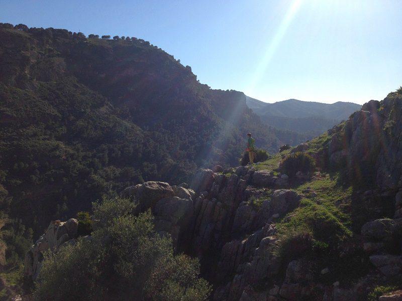 descend from cerro cristo, el chorro