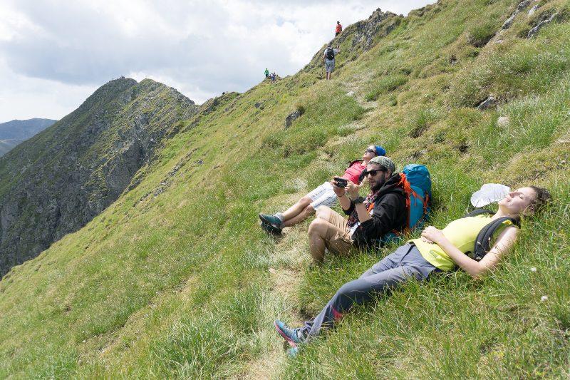 urcarea mai abruptă spre Vârful Viștea Mare, Munții Făgăraș