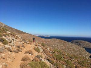 poteca spre Peștera Sikati, Kalymnos, Grecia escalada