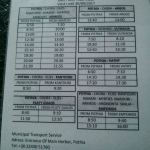 program autobuz Pothia (port Kalymnos) - Massouri, kalymnos, grecia