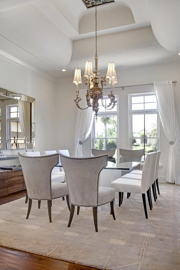 40+ Beautiful Modern Dining Room Ideas on Pictures Room Decor  id=72238