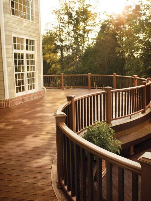 20+ Creative Deck Railing Ideas for Inspiration on Deck Inspiration  id=80791