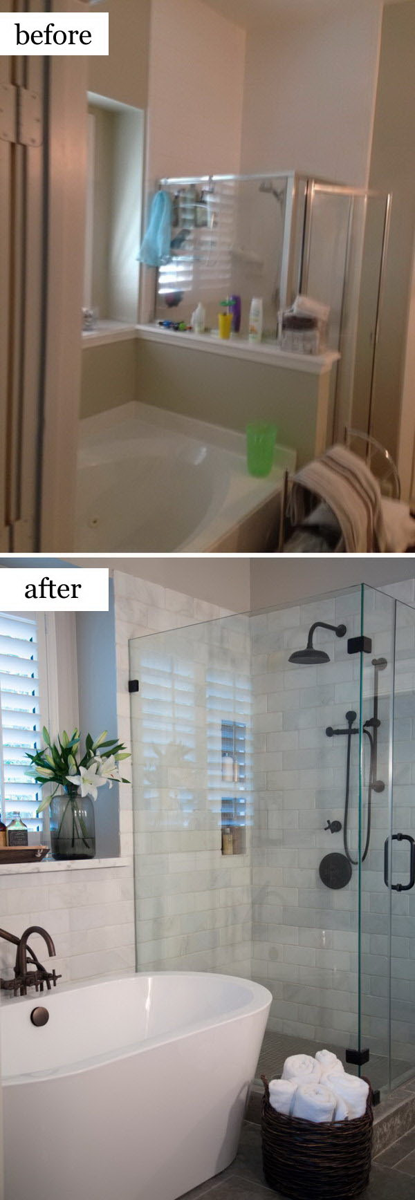 Before and After Makeovers: 20+ Most Beautiful Bathroom ... on Small:tyud1Zhh6Eq= Bathroom Remodel Ideas  id=65499