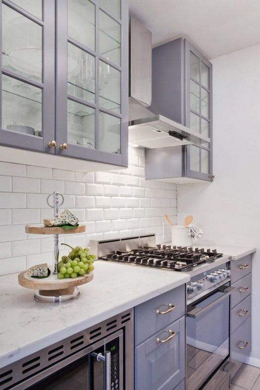 Off Purple Or Gray Kichen Cabinet Paint Color