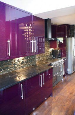 80  Cool Kitchen Cabinet Paint Color Ideas Enthralling Purple Kitchen with Purple Kitchen Cabinet