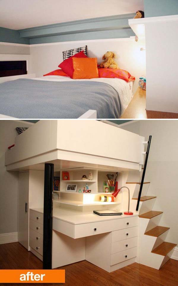 30+ Cool Loft Beds for Small Rooms on Cool Bedroom Ideas For Small Rooms  id=11773