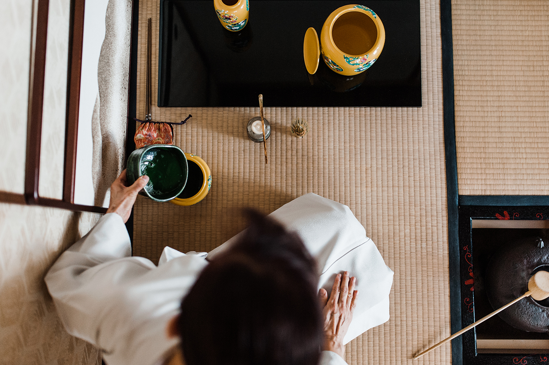 Japanese tea making