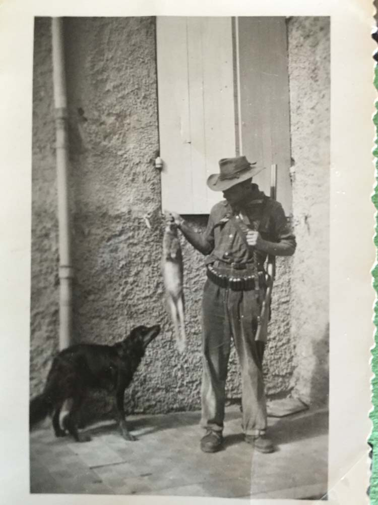 First Pick-Great uncle with rabbit