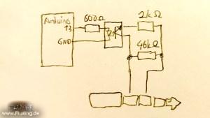 Schematic: Arduino controlled shutter release for Panasonic Lumix G7, G70, G4, G5, Gh3, Gh4, Gh5 etc.