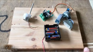 for the timelapse dolly we need a slow geared motor, dc motor controller, battery box, furniture casters as wheels