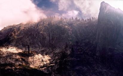 """Tekopah Falls"", 2000, Sequoia, Ca, Landscape/Light studies series, C–print"