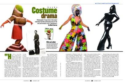 """""""The Advocate"""", Editorial spread, 2002, LPI Media"""