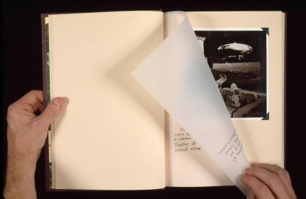 The Storm Field, Selected page spread, Handmade Book, Edition of 1, 1992