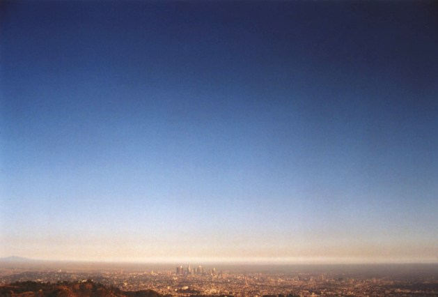 """Los Angeles Skyline"", 1995, Hollywood, Ca, Landscape/Light studies series, C–print"