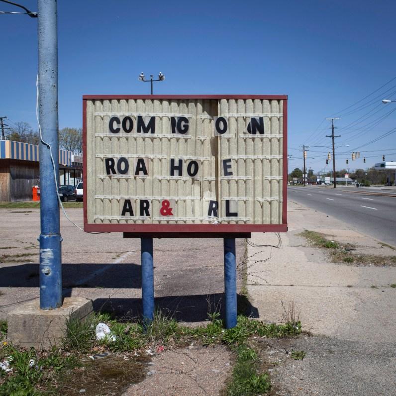 Road House Grill Sign, Jefferson Davis Highway, Virginia, 2011