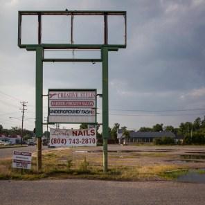 Shopping Center Sign, Jefferson Davis Highway, Virginia, 2011