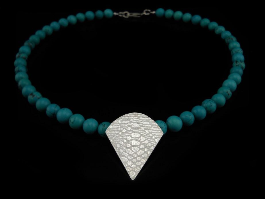 Illuminate Pendant Silver Turquoise