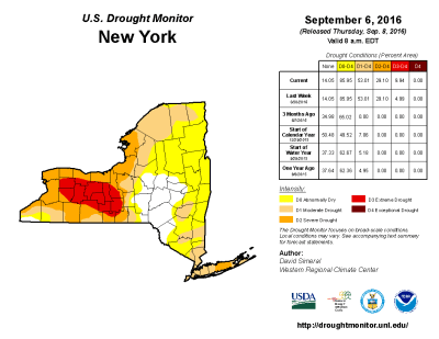 finger lakes drought report