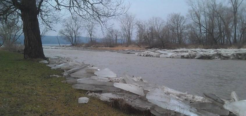 finger lakes weather forecast rain warm ice jam flooding