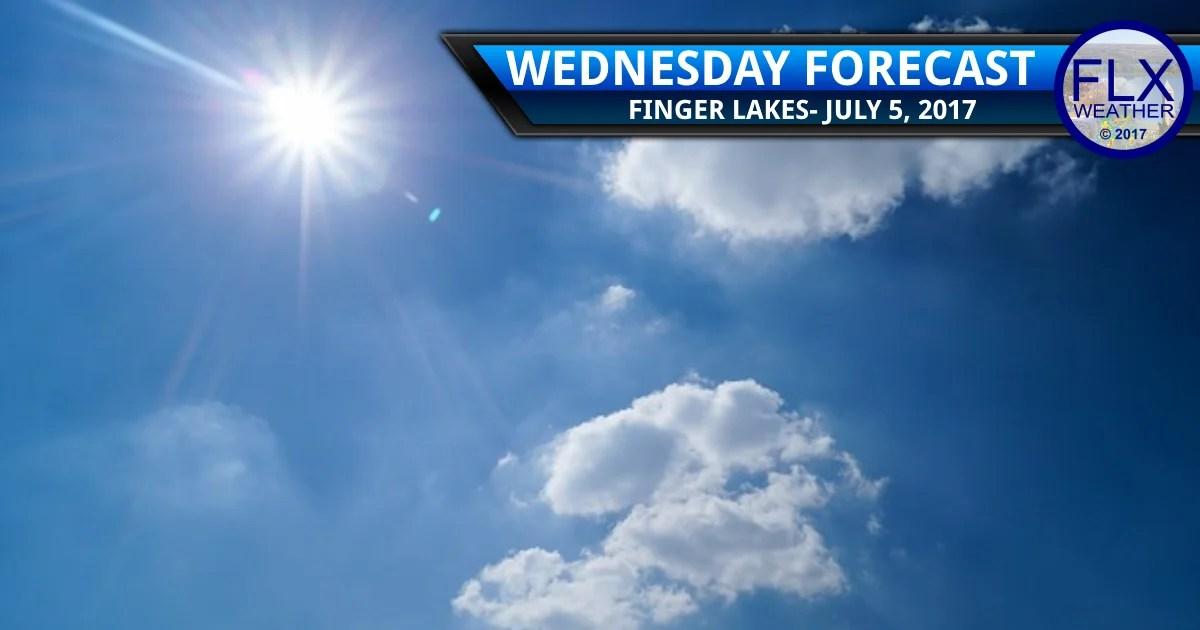 finger lakes weather forecast sunny warm