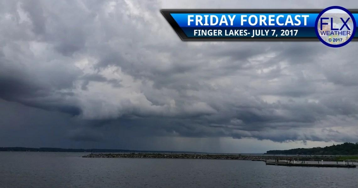 finger lakes weather forecast rain thunder seneca lake geneva