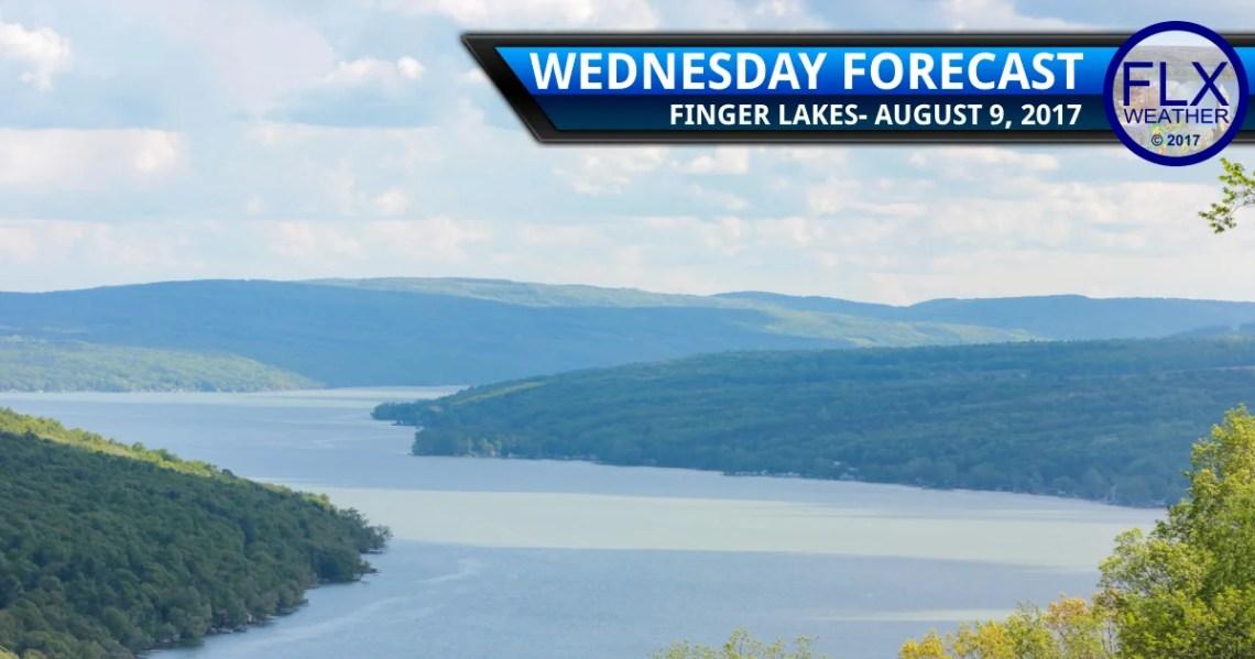 finger lakes weather forecast keuka lake sun clouds average temperatures