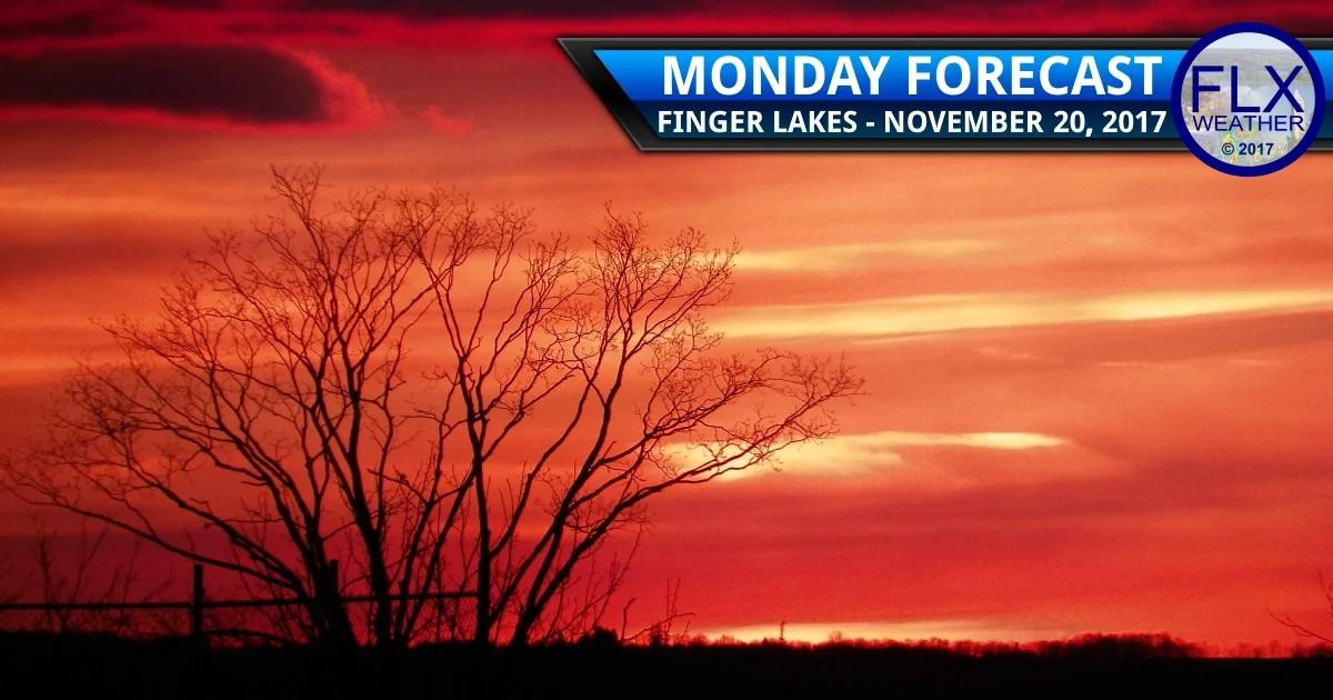 finger lakes weather forecast monday november 20 2017 thanksgiving week travel