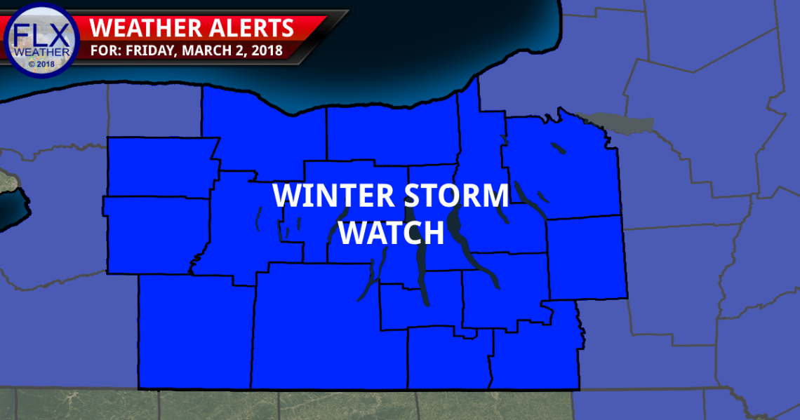 finger lakes weather forecast wednesday february 28 2018 winter storm watch
