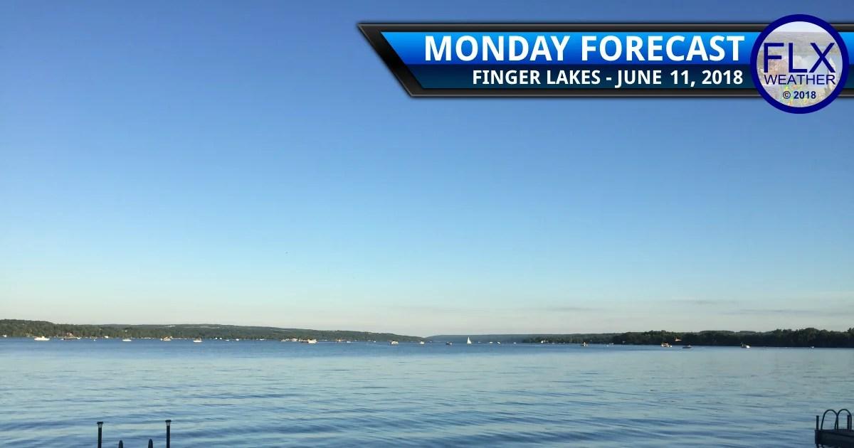 finger lakes weather forecast monday june 11 2018 sunny warm rain wednesday