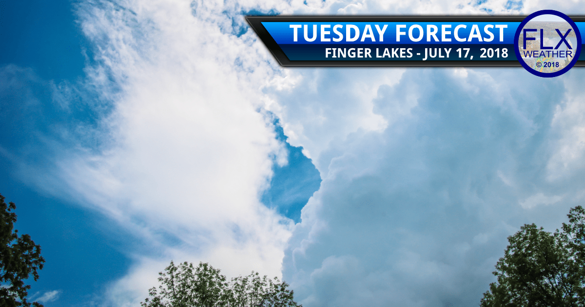 finger lakes weather forecast tuesday july 17 2017 rain thunder cold front cooler temperatures