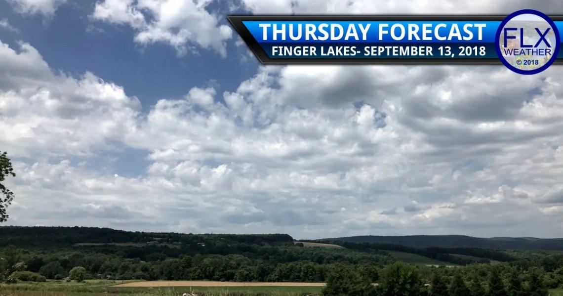 finger lakes weather forecast thursday september 13 2018 mild muggy