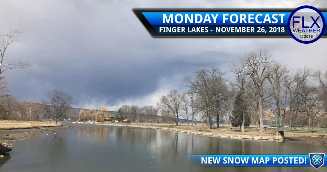 finger lakes weather forecast monday november 26 2018 rain snow event