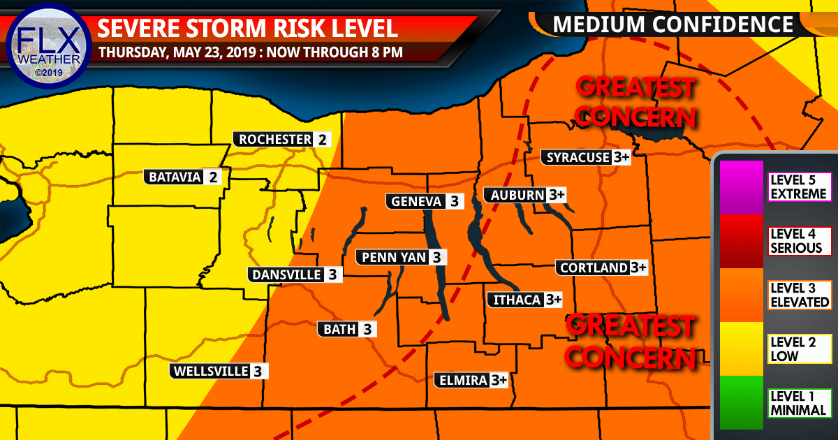 severe thunderstorms thursday possible but highly