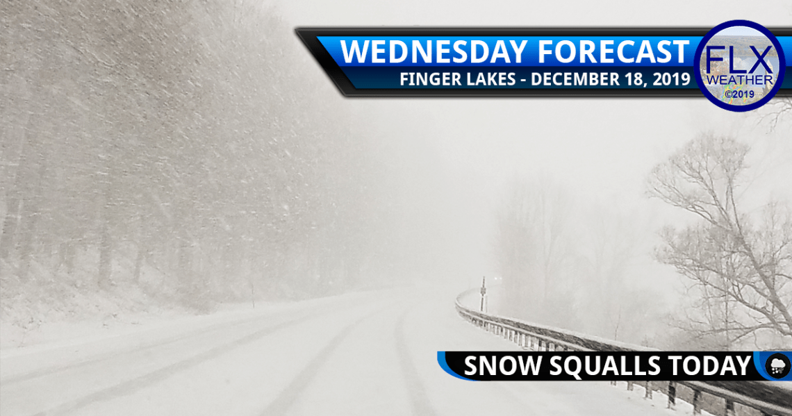 finger lakes weather forecast wednesday december 18 2019 snow squalls lake effect windy arctic cold front