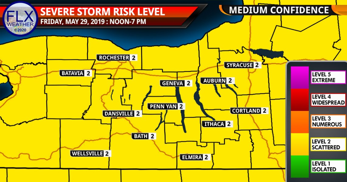 finger lakes weather forecast severe thunderstorm map friday may 29 2020