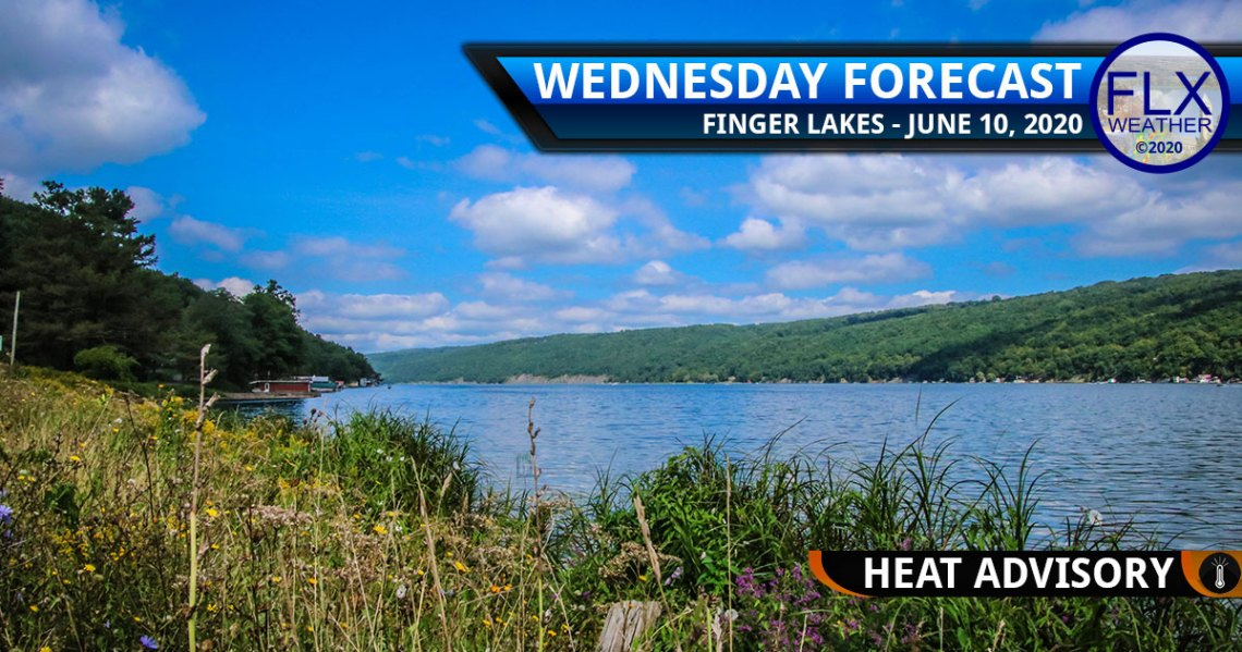 finger lakes weather forecast wednesday june 10 2020 hot humid heat advisories thunderstorms