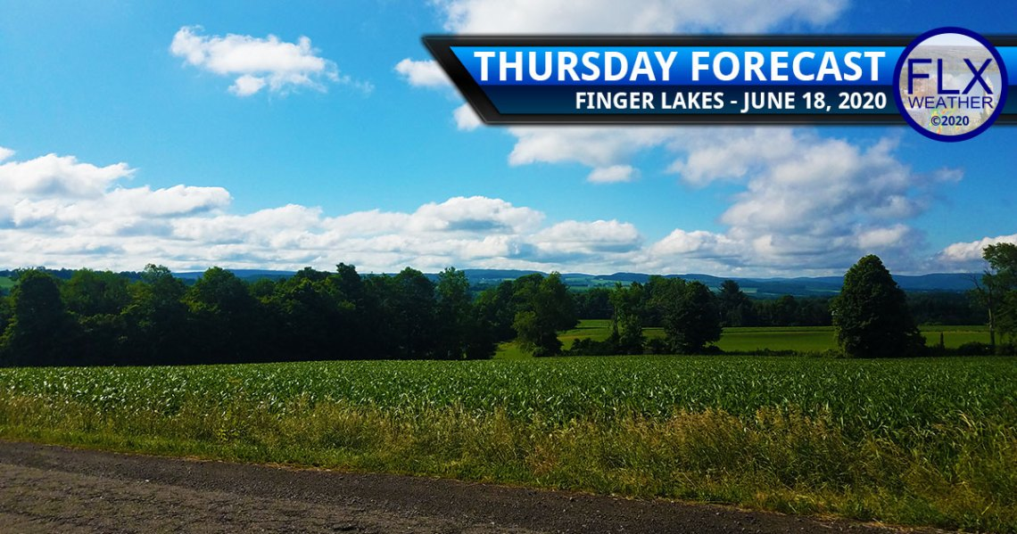 finger lakes weather forecast thursday june 18 2020 sunny hot small rain chances
