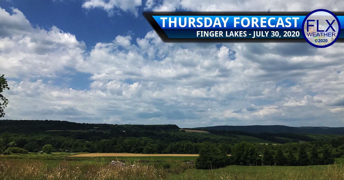 finger lakes weather forecast thursday july 30 2020 sun clouds average temperatures showers