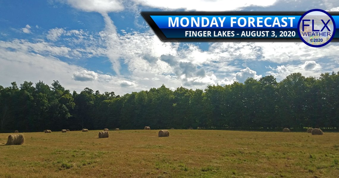 finger lakes weather forecast monday august 3 2020 sun clouds Isaias predecessor rain event
