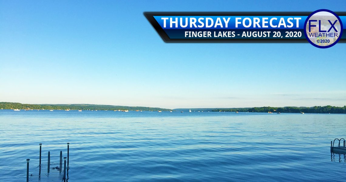 finger lakes weather forecast thursday august 20 2020 sunny high pressure warming up