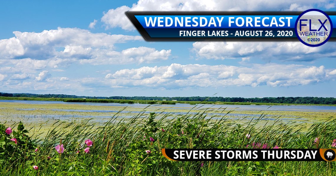 finger lakes weather forecast wednesday august 26 2020 sun clouds warm front severe thunderstorms thursday